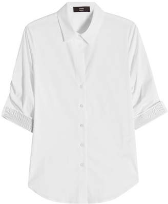 Steffen Schraut Short Sleeve Blouse with Embellishment