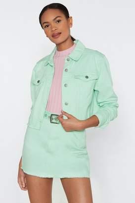 Nasty Gal Denim Jacket and Skirt Set