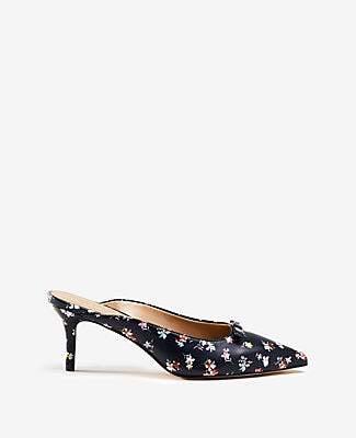 6637de7911 Ann Taylor Juniper Floral Leather Bow Pumps