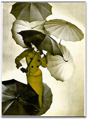 "Vintage Apple Collection 'Umbrella' Canvas Art - 24"" x 32"""