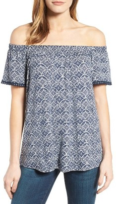 Women's Bobeau Off The Shoulder Print Top $49 thestylecure.com