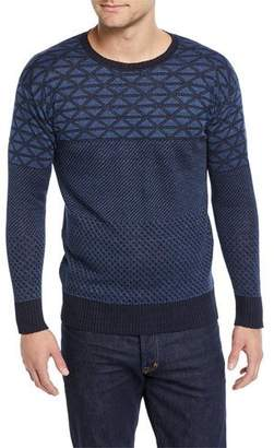 Etro Men's Geometric-Knit Linen Sweater