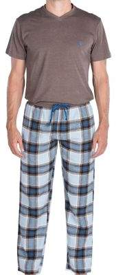 Majestic Cold Snap V-Neck Top and Flannel Pants Set