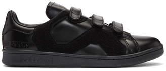 Raf Simons Black adidas Originals Edition Stan Smith Comfort Badge Sneakers