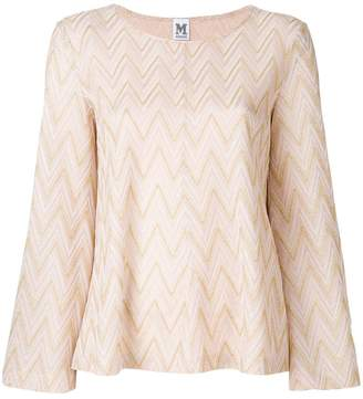 M Missoni chervon embroidered top