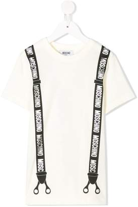 Moschino Kids logo brace print T-shirt