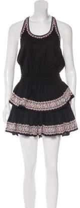 LoveShackFancy Embroidered Mini Dress