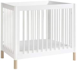 Babyletto Gelato 2-in-1 Mini Crib, Washed Natural and White