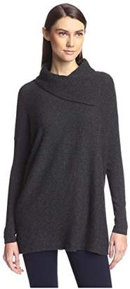 Society New York Women's Foldover Neck Cashmere Sweater