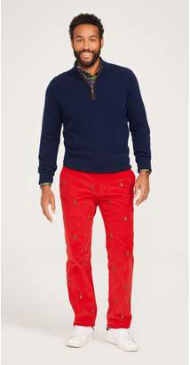 J.Mclaughlin Thoreau Embroidered Corduroy Pants in Christmas Tree