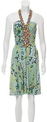 Issa Silk Printed Halter Dress