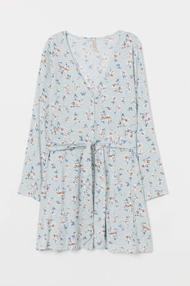 H&M Dress with Tie Belt - Turquoise