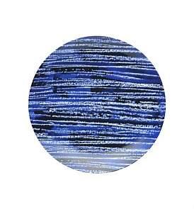 David Jones Shibori Blue Line Side Plate 23Cm