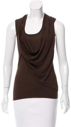 Ohne Titel Sleeveless Overlay-Accented Top