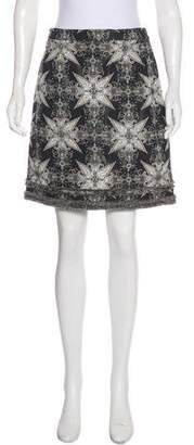 Chanel Interlocking CC Brocade Skirt