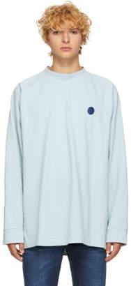Acne Studios Blue Bla Konst Oversized Long Sleeve Carp Uni T-Shirt