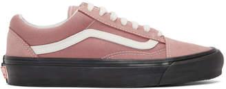 Vans Pink and Black OG Old Skool LX Sneakers
