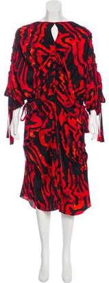 Ellery Kabukimono Silk Ruched Dress w/ Tags