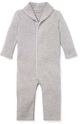 Ralph Lauren Shawl-Collar Ribbed Coverall, Size 3-12 Months