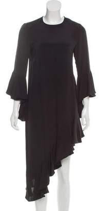 Alexis Ruffle-Trimmed Silk Dress