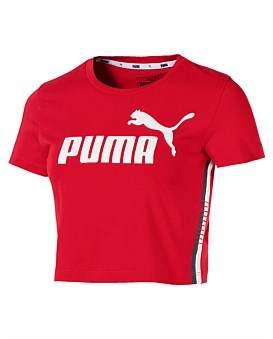 Puma Tape Logo Cropped Tee