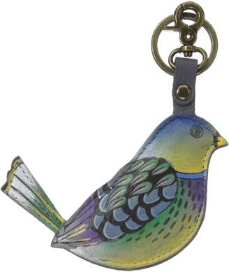 Anuschka ANNA by  Women's Hand Painted Leather Keyring/Charm Blissful Birds Size OSFA