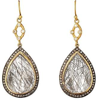 Sara Weinstock Women's Quartz & Grey Diamond Double-Drop Earrings
