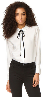 7 For All Mankind Scalloped Shirt $179 thestylecure.com