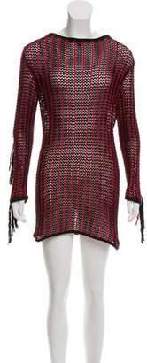 A Peace Treaty 2018 Fringe-Trimmed Dress