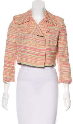 Milly Striped Double-Breasted Blazer