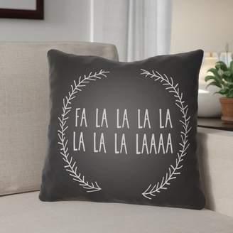The Holiday Aisle Fa La La Indoor/Outdoor Throw Pillow