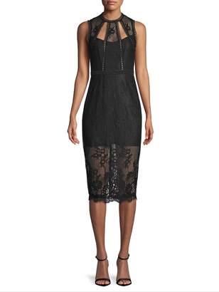 Alexis Women's Sheer Lace Cut-Out Dress