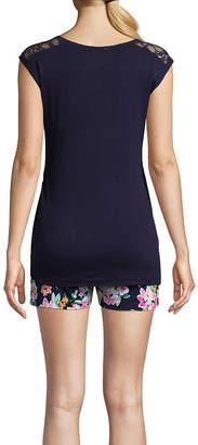 Lamaze INTIMATES Intimates Womens-Maternity Pant Pajama Set 2-pc. Short Sleeve