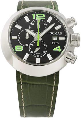 Locman (ロックマン) - LOCMAN ラウンドウォッチ クロノグラフ デイト表示 取替ベルト付 ケース:ブラック ベルト:ブラック、グリーン
