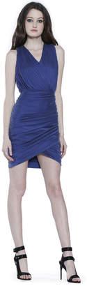 Alice + Olivia Damia Sleeveless Ruched Dress