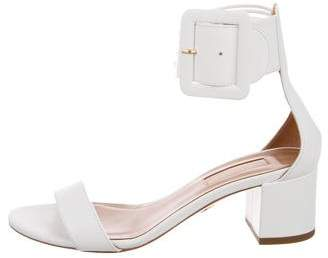 Aquazzura Leather Ankle Strap Sandals