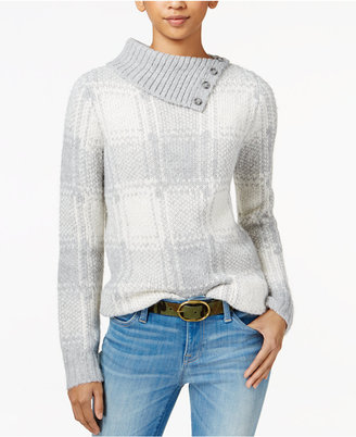 Tommy Hilfiger Ribbed Jacquard Sweater, Only at Macy's $89.50 thestylecure.com
