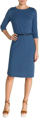 Olsen Easy Style Printed Ponte Sheath Dress