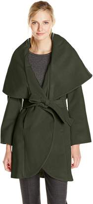 T Tahari Women's Outerwear Marla Wool Wrap Coat