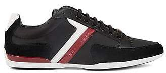 HUGO BOSS Material-mix trainers with rubber sole