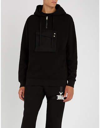 Alyx Pocket-embellished cotton-jersey hoody