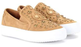 See by Chloe Embellished suede sneakers