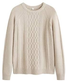 Mango man MANGO MAN Cable-knit sweater
