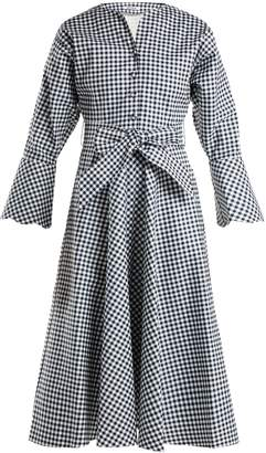 BATSHEVA Gingham cotton dress
