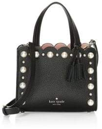 Kate Spade Faux Pearl Scallop Leather Tote Bag