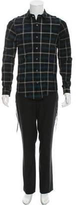 Amiri Plaid Leather Shirt w/ Tags black Plaid Leather Shirt w/ Tags