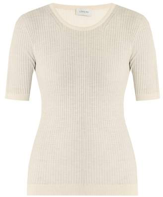 Lemaire Ribbed Knit Wool Sweater - Womens - Cream