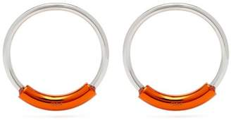 Chloé Contrast Bar Hoop Earrings - Womens - Orange