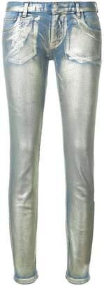Faith Connexion metallic effect skinny jeans