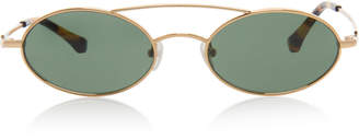 Alessandra Rich x Linda Farrow Round Sunglasses With Chain